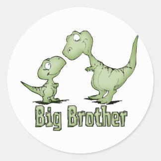 Dinosaurios hermano mayor pegatina redonda