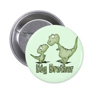 Dinosaurios hermano mayor pin redondo de 2 pulgadas