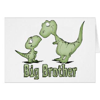 Dinosaurios hermano mayor tarjeta pequeña