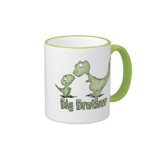 Dinosaurios hermano mayor taza de dos colores