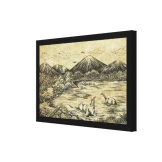 Dinosaurios Impresión En Lienzo