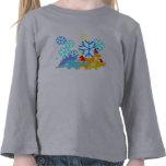 Dinosaurios lindos del navidad camisetas