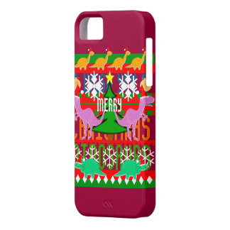Dinosaurios lindos del navidad del modelo feo del iPhone 5 fundas