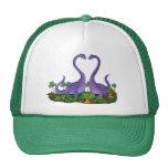 Dinosaurios lindos y románticos gorra
