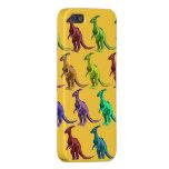 Dinosaurios multicolores en el caso del iphone 5 iPhone 5 carcasas