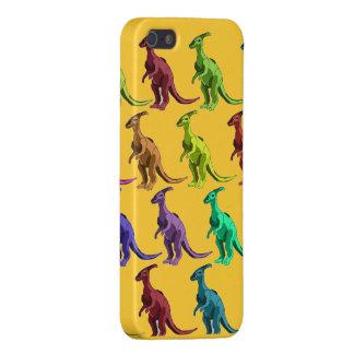 Dinosaurios multicolores en el caso del iphone 5 iPhone 5 carcasa