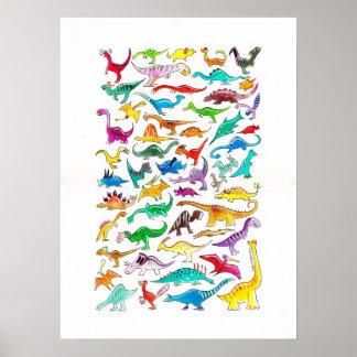 """""""Dinosaurios para poster de los principiantes"""" (gr"""
