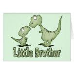 Dinosaurios pequeño Brother Felicitación
