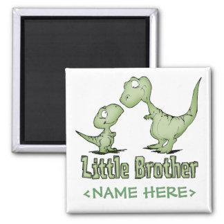 Dinosaurios pequeño Brother Imán Cuadrado
