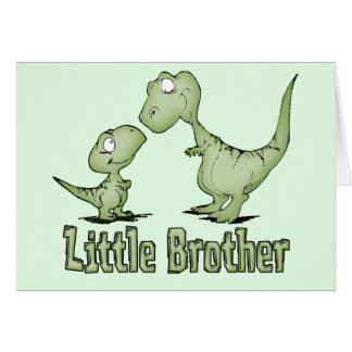 Dinosaurios pequeño Brother Tarjeta Pequeña