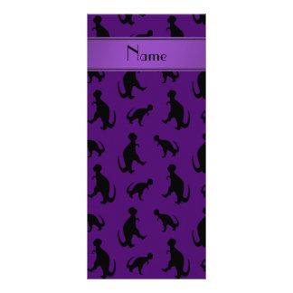 Dinosaurios púrpuras conocidos personalizados del tarjeta publicitaria