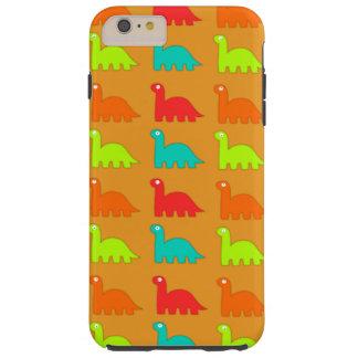 Dinosaurios que caminan del modelo lindo de Dino Funda Resistente iPhone 6 Plus