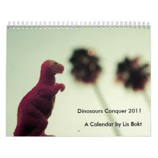 Dinosaurios que conquistan 2011 calendario de pared