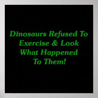 Dinosaurios rechazados para ejercitar impresiones