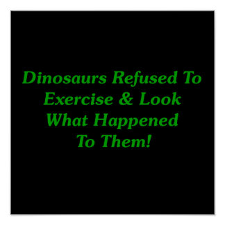Dinosaurios rechazados para ejercitar póster