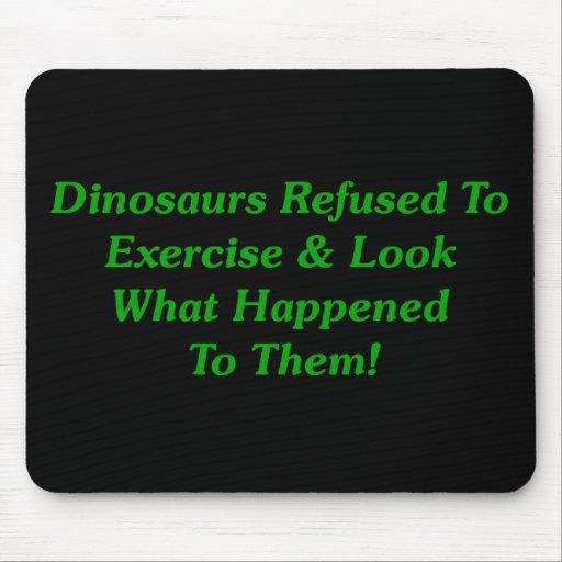 Dinosaurios rechazados para ejercitar alfombrillas de ratón
