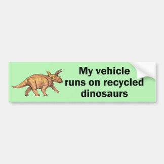 Dinosaurios reciclados pegatina para auto
