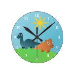 Dinosaurios Reloj De Pared