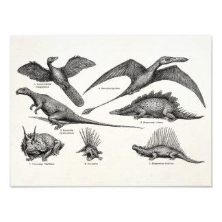 Dinosaurios retros del ejemplo del dinosaurio del  foto