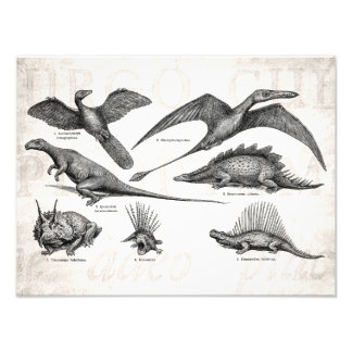 Dinosaurios retros del ejemplo del dinosaurio del  impresiones fotograficas