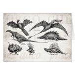 Dinosaurios retros del ejemplo del dinosaurio del  tarjeta