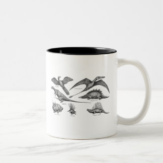 Dinosaurios retros del ejemplo del dinosaurio del  tazas