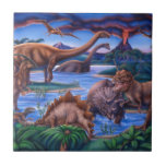 Dinosaurios Teja Ceramica