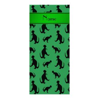 Dinosaurios verdes conocidos personalizados del tarjetas publicitarias personalizadas
