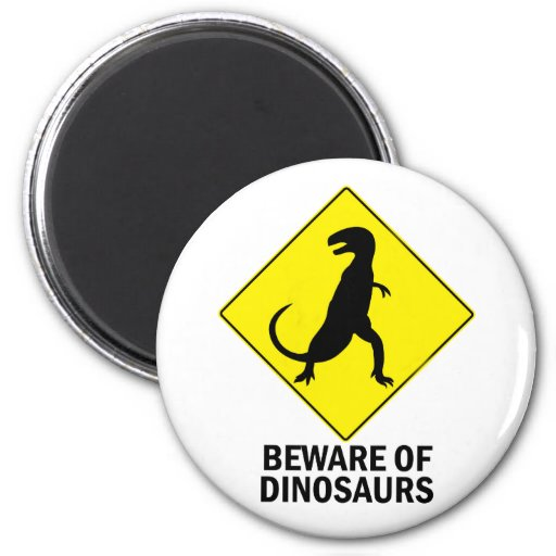 Dinosaurs 2 Inch Round Magnet
