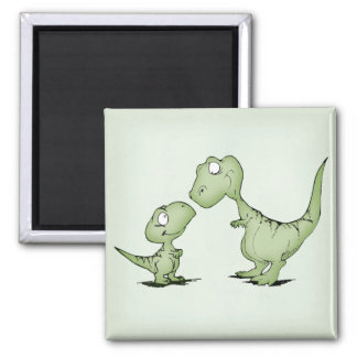 Dinosaurs 2 Inch Square Magnet