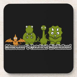Dinosaurs Against Evolution Beverage Coaster