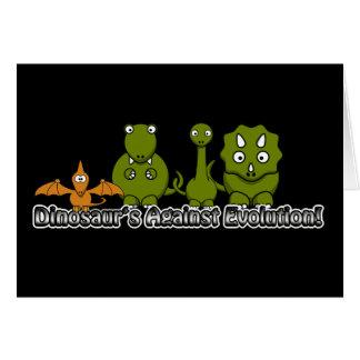 Dinosaurs Against Evolution Card
