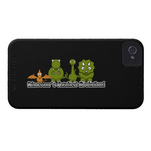 Dinosaurs Against Evolution iPhone 4 Case-Mate Case