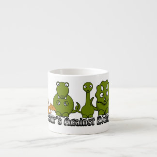 Dinosaurs Against Evolution Espresso Cup
