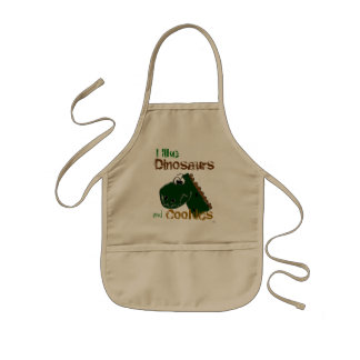 Dinosaurs and Cookies Kids' Apron
