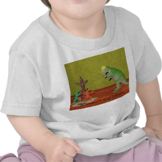 Dinosaurs and Indians Baby Shirt