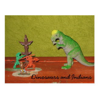 Dinosaurs and Indians Postcard