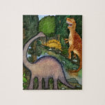 Dinosaurs at Creek Puzzle Puzzles