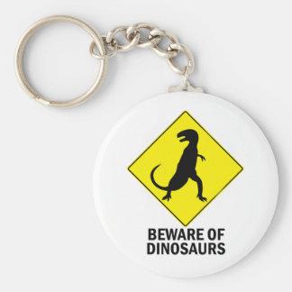 Dinosaurs Basic Round Button Keychain