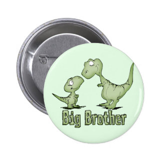 Dinosaurs Big Brother 2 Inch Round Button