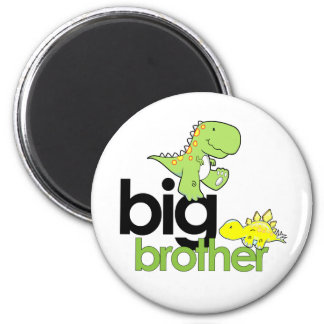 dinosaurs big brother 2 inch round magnet