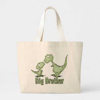 Dinosaurs Big Brother Large Tote Bag