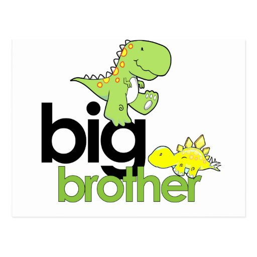 dinosaurs big brother post cards