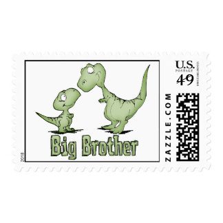 Dinosaurs Big Brother Stamp