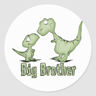 Dinosaurs Big Brother Classic Round Sticker