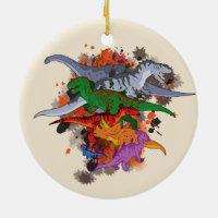 Dinosaurs Ceramic Ornament