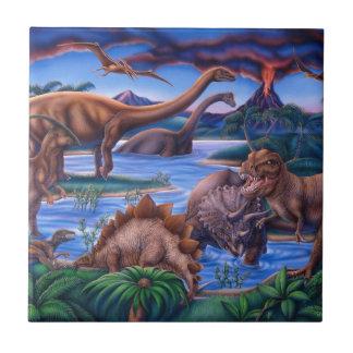Dinosaurs Ceramic Tile