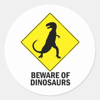 Dinosaurs Classic Round Sticker
