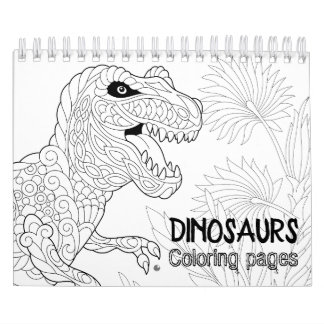 Dinosaurs Coloring Pages Calendar