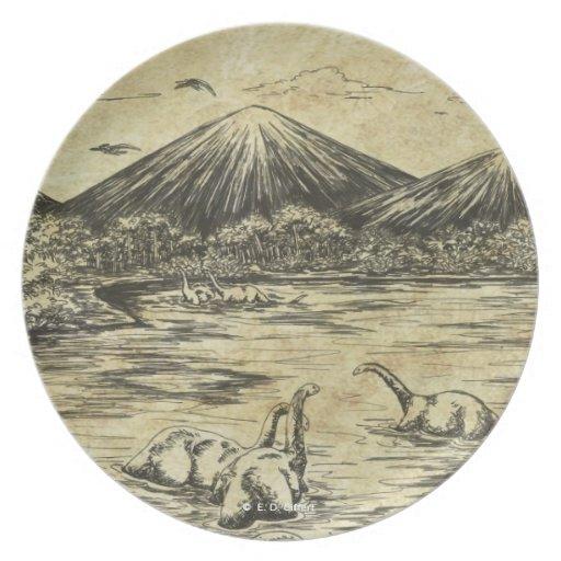 Dinosaurs Dinner Plate